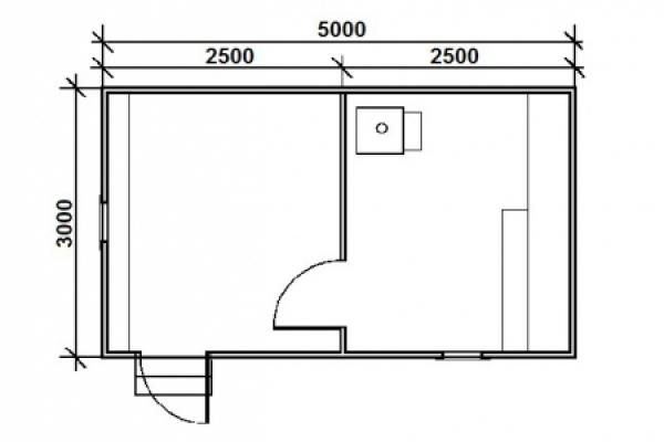 Баня 3х5м каркасная